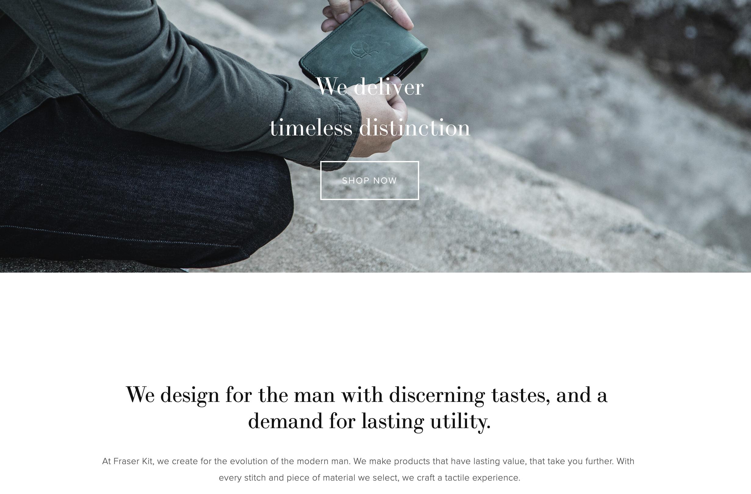 Fraser Kit - Timeless Distinction